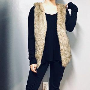Soft Fur Vest Jacket Size 8